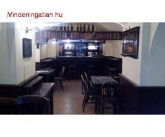 VI. Liszt F. térnél kiadó (eladó) szuterén söröző, teljeskörűen berendezett, meleg-konyhás étterem !